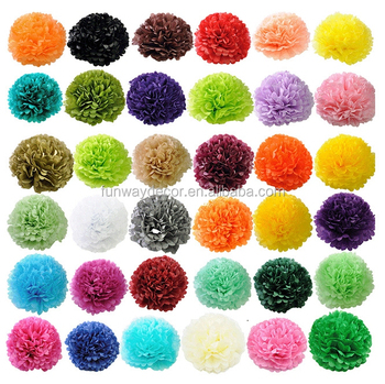 Diy Hanging Paper Flower Ball Paper Pom Poms For Party Decoration
