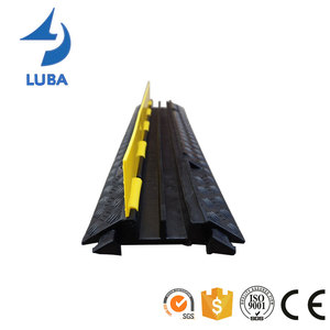 Road Safety 2 Channels Rubber Cable Cover