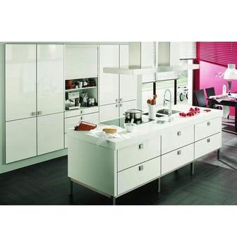 Amblem Sample Available China Made Pvc Membrane Kitchen Cabinet 1 Year Warranty