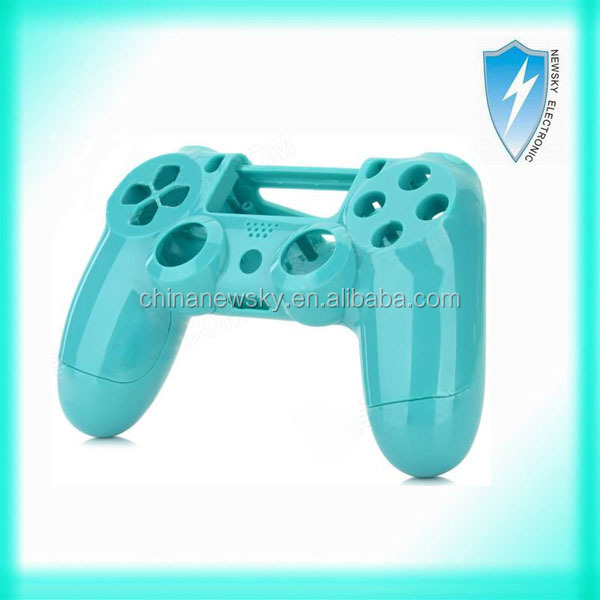 Replacement Plastic Back + Front Housing Case Shell for PS4 Controller - Sky Blue