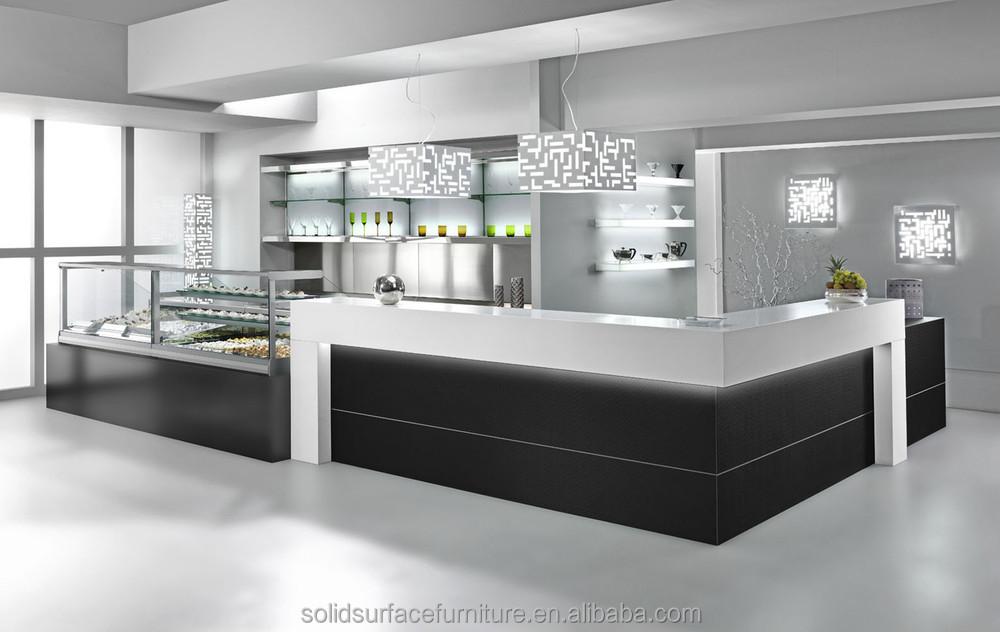 commercial modern restaurant glass display reception desk buy