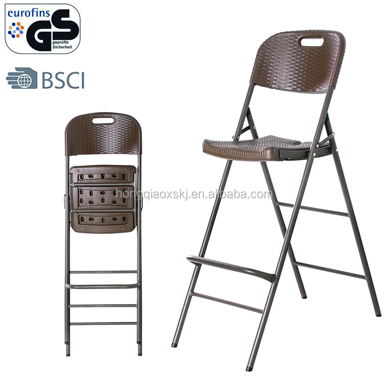 Rattan Folding Bar Height Plastic Outdoor Chairs High Product On Alibaba