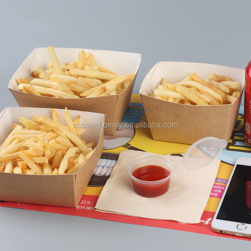 Disposable Kraft Paper Food Tray for Carnivals, Fairs, Festivals, and Picnics