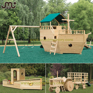 Professional custom boat design outdoor wooden play equipment