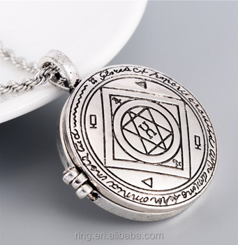 Locket Necklace Talisman For Good Luck Key Of Solomon Pentacle Seal Photo  Box Pendant - Buy Locket Necklace,Locket Necklace Talisman,Solomon Pentacle