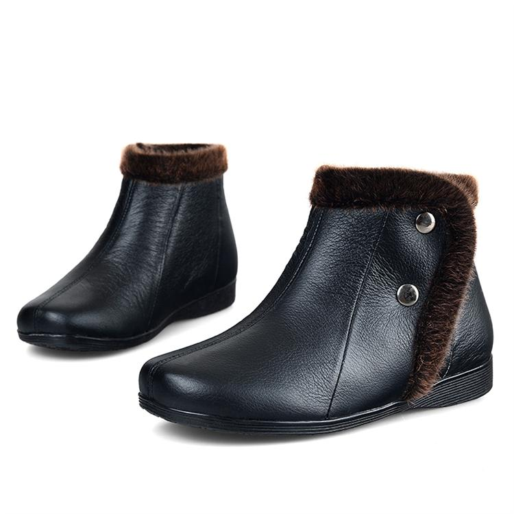 762cd88037da Get Quotations · Autumn and winter genuine leather flat heel hasp high women s  shoes small leather single boots boots
