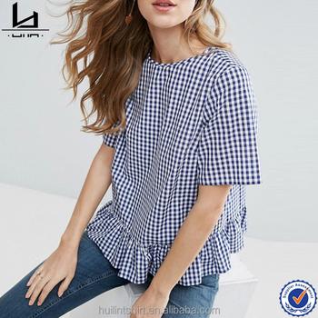 7e918c94117 online shopping india woven fabric ruffle hem printed ladies t shirts