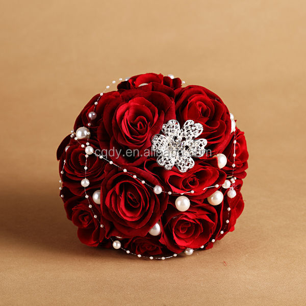 Luxury Red Rose Brooch Artificial
