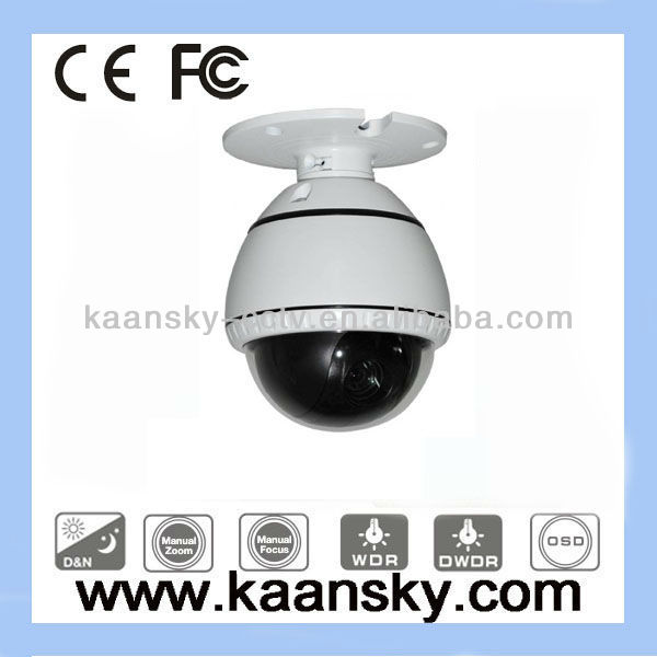 KST-MSD101 RS-485 long distance control 10x 650tvl auto track high speed ptz mini dome camera