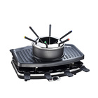 2 in1 electric raclettle bbq grill with hot pot