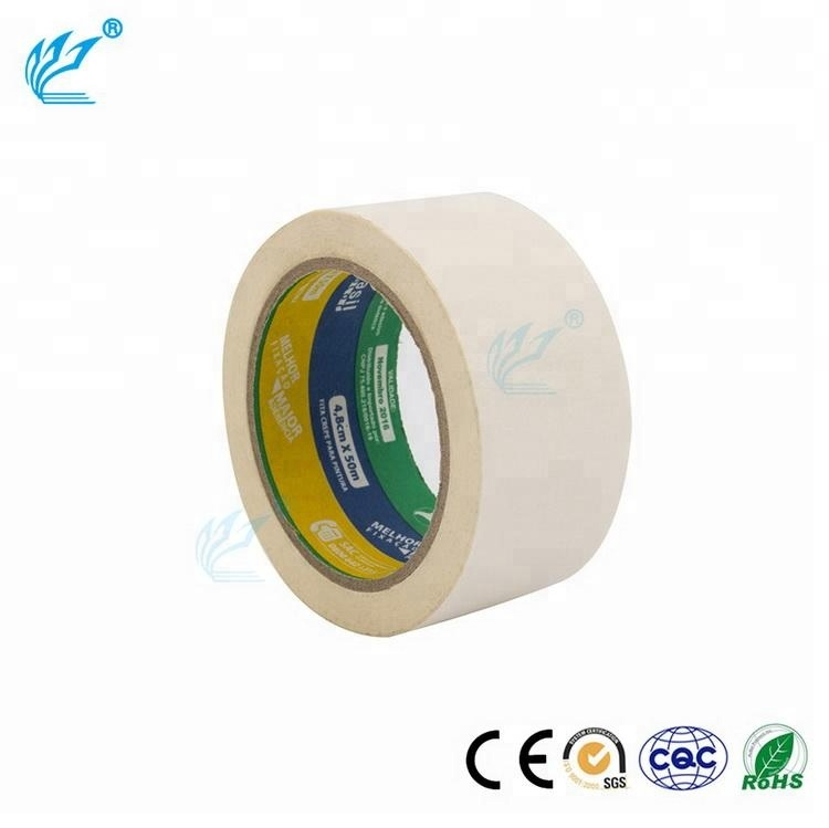 heat resistant automotive adhesive tape Crepe Paper Automotive Masking heat activated paper Tape from Manufacturer