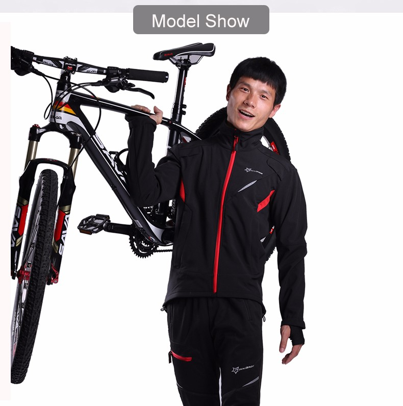 Detail Feedback Questions about ROCKBROS Cycling Winter Sport Jacket Fleece  Thermal Warm Windproof Riding Bike Bicycle jerseys Water Resistant  Reflective ... 419eccd18
