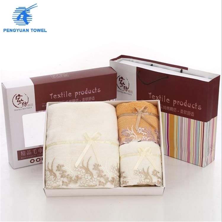 Cotton gifts hand towel branded export surplus towel