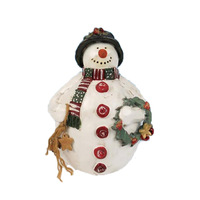 European Style Factory Custom Made Snowman RESIN OR POLYRESIN Snowman Dog Toy