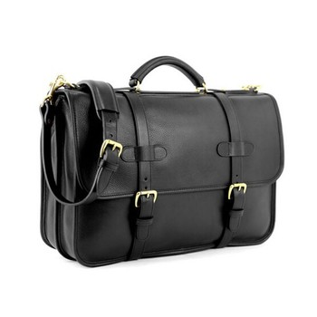 Elegant Leather Briefcase Bag Adjule Best Messenger For College Pouch Men