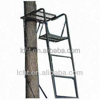 One man tree stand tree ladder steel tube stand ladder for One person tree stand
