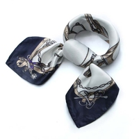 The Newest Fashion Printed Sexy Silk Scarf Lady Satin Scarf Square.