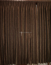 Pinched pleat window curtain covering with blackout lined for Hilton Hotel use with FR
