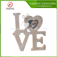 Durable Love Wooden Wedding Photo Picture Frame for DIY home Decor wholesale