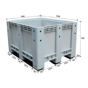 Strong Industrial Mobile Pallet Size Plastic Storage Box