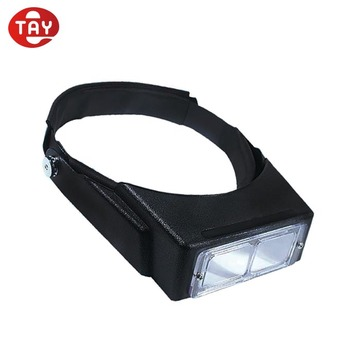 Headband for magnifying hands free head light binocular magnifier