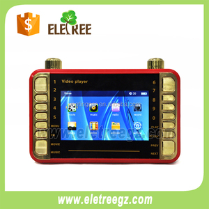 ELETREE OUTDOOR Rechargeable mini handheld tv mp4 player with memory card 518 777 666