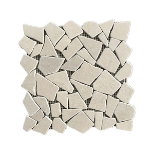 Top Quality Natural Grey Girl Pebble Pattern Marble Mosaics For sale