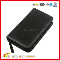 Portable Faux Leather 80 Disc CD DVD Wallet Storage Organizer Holder Bag Case
