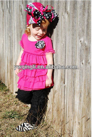 fashion lace casual wear red with many layers of girls clothes