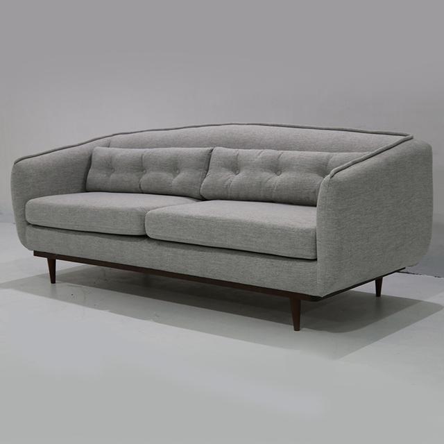 Modern Sofa Company Three Seat Grey Linen Lounge Furniture Fabric Sofa
