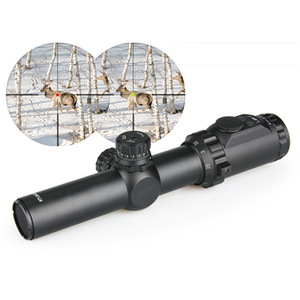 airsoft 1.25-4x30 Illuminated Green/Red Rifle Scope With Mount For Hunting and shooting