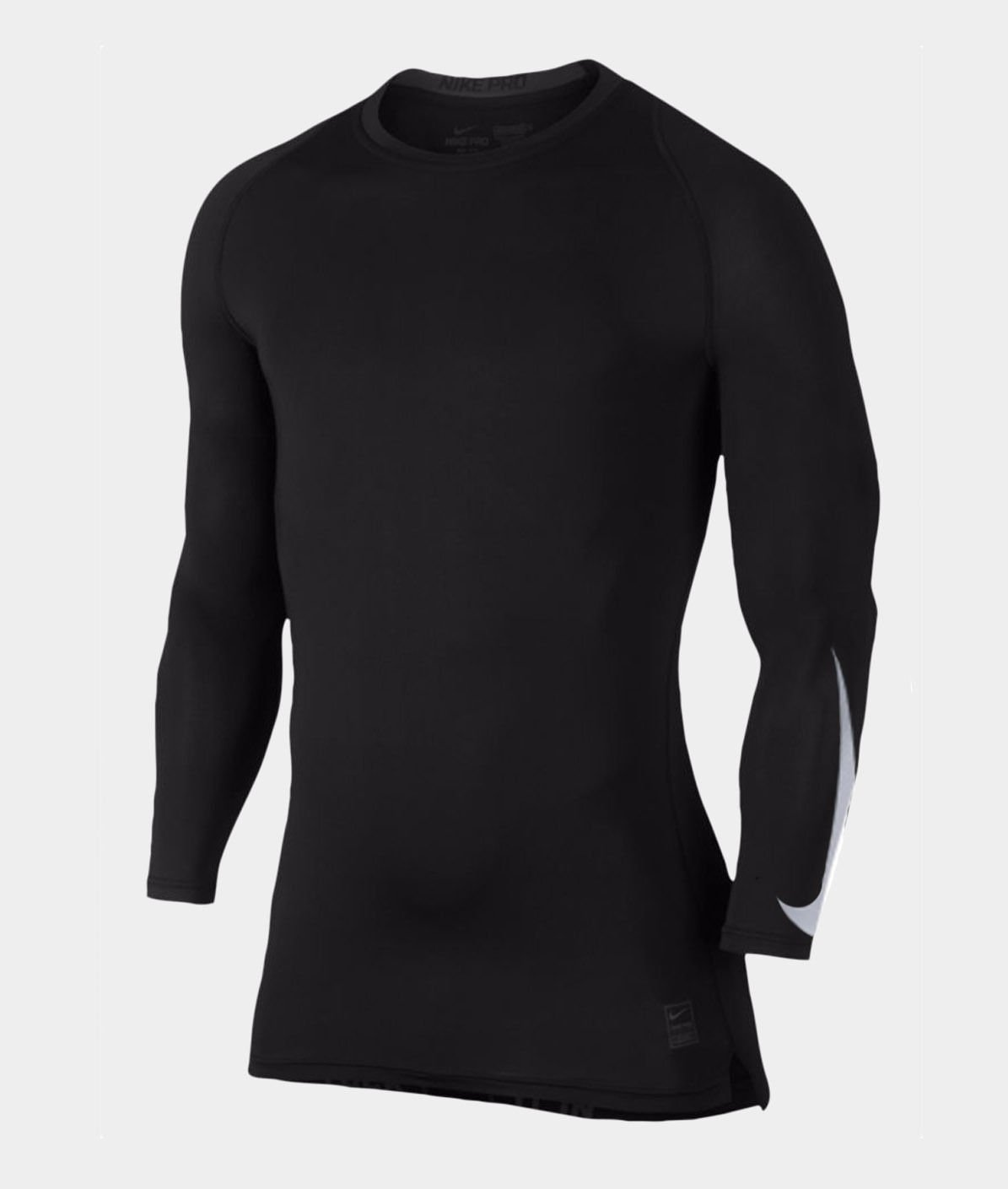 273a7fee4 Get Quotations · Nike Men s Pro Combat Long Sleeve Compression Shirt Black  White