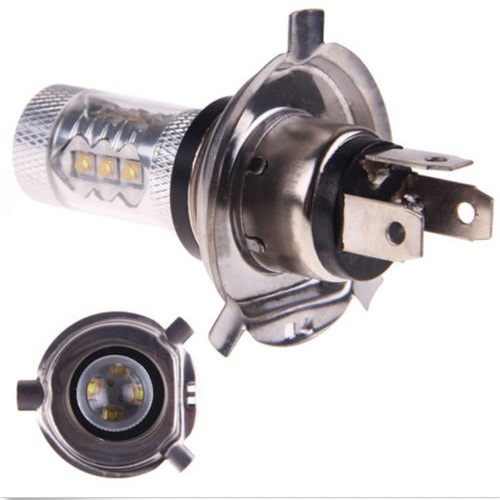 FreeShipping 2Pcs 12V 80W Car H4 Led Headlight Bulbs White H4 CREE LED Fog Light Bulb 1800LM High Low Beam Headlight
