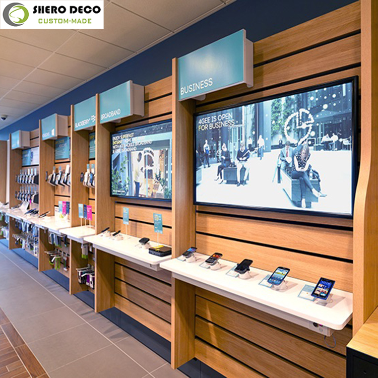 hot sale advanced craft electronic shop interior design for electronic product display