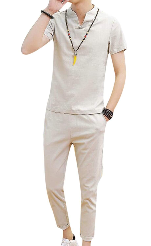 Macondoo Women Casual Camo Long Sleeve Top Pants Activewear Tracksuit Set