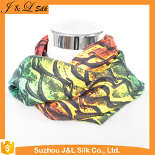 Digital print custom design women satin silk scarf