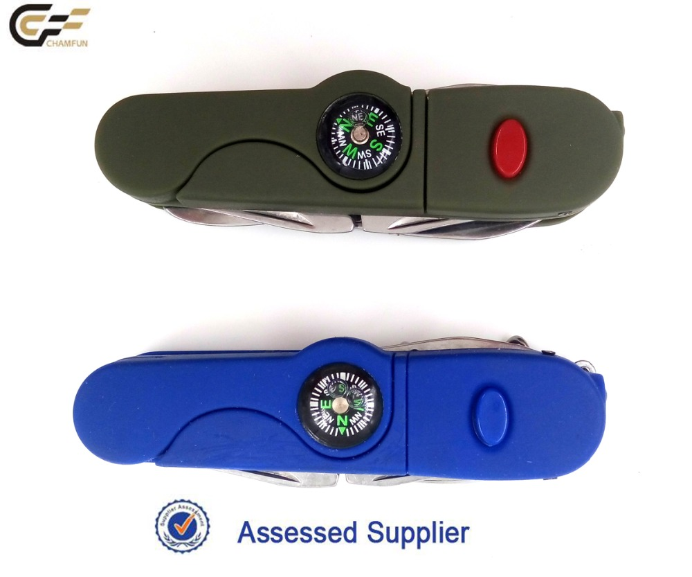 Attractive design rubber handle folding classic pocket knife