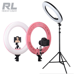 18 inch 48w light ring photography studio led ring light for video broadcast studio make up