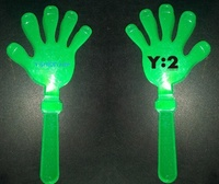 OEM Noise Maker Customized Wholesale Plastic LED Flashing Hand Clappers