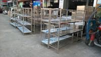 201 stainless steel storage rack/4 tier storage rack/vegetable shelf for kitchen use