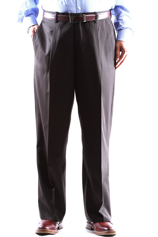 VARIETY!! MENS KIRKLAND SIGNATURE GARBADINE WOOL PLEATED FRONT DRESS PANT SLACK