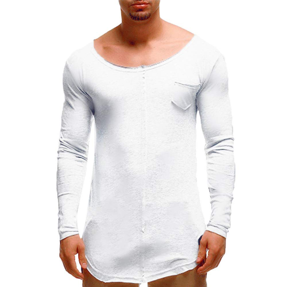 Photno Mens Tee Shirts,2018 Mens Long Sleeve Shirts Slim Fit Pullover Tops Boys T Shirts Men