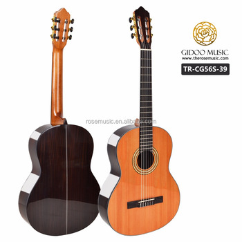 High quality musical instrument Chinese guitar factory 39 inch Solid wood classical guitar TRCG56S39