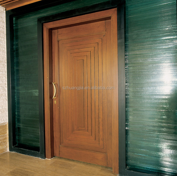 Simple lowes exterior teak wooden single main doors for Simple front door designs