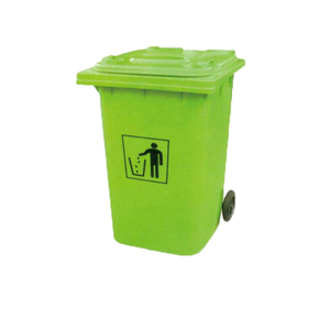 Outdoor garbage bin 240L plastic trash can waste trolley bin with pedal