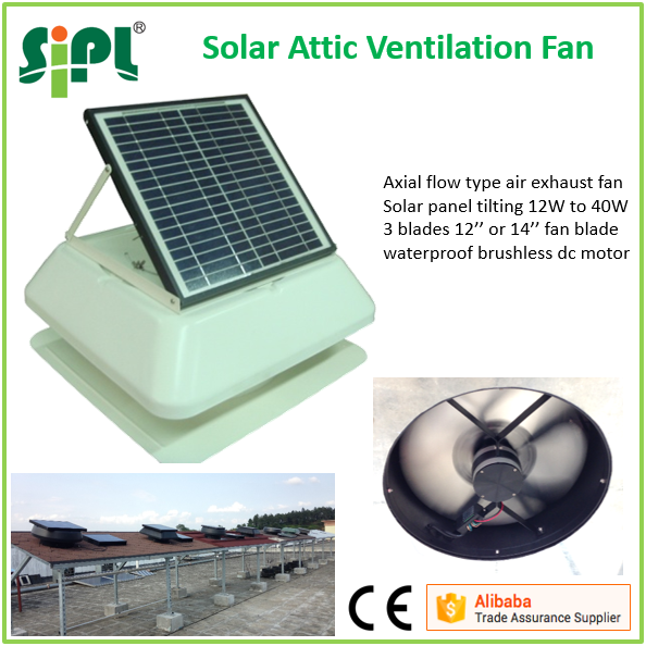 SUNNY FAN SN2016029 40w super air ventilation 14 inch solar powered heat extractor roof attic gable vent fan