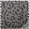 New Design Hexagon Wall Tiles Matt Surface Glass Brick Mosaic Tile