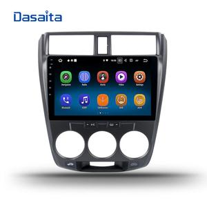 Dasaita Android 8.1 car multimedia for Honda City 2008 2009 2010 2011 2012 Radio DVD gps navigation system 10.2 inch Video Audio