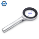 Manufacture DIA 55mm 5X Handheld Magnifier With 8 LED Light, Aluminum LED Handheld Magnifier