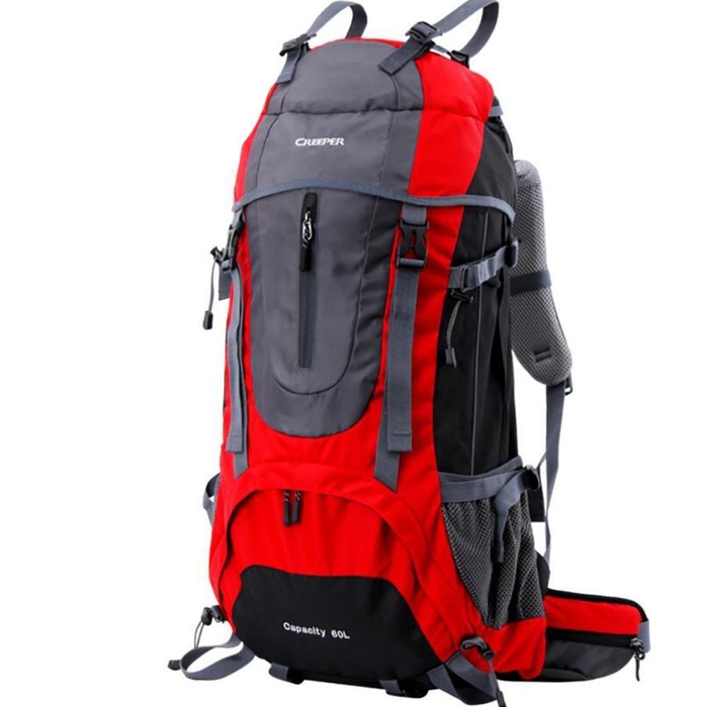 45L 60L 65L Backpacks Men Backpacks Women Mountaineering Bags Male Female Double-shoulder Waterproof , red , 60l
